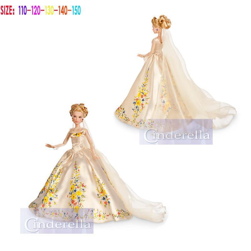 2015 New Summer Cosplay dresses Girls Cinderella dress Kids Princess dress Baby Party Dresses Children Cartoon Clothing(China (Mainland))