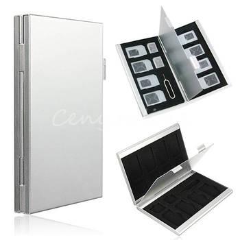 Новинка 15 в 1 двухместный рабочий стол высокое качество алюминиевый SIM для Nano SIM карты Pin ящик для хранения чехол держатель протектор экрана