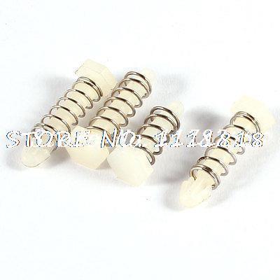 4 x Plastic Hexagonal Head 3mm Rod Dia Fix Fixation Bolts Connector Fasteners(China (Mainland))