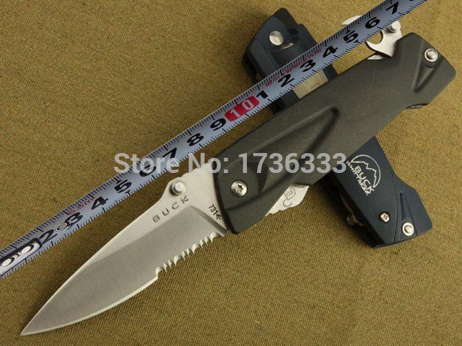 Free shipping BUCK 831 ABS handle multifunction Tool LED Camping Hunting knives folding pocket knife+ lamp(China (Mainland))