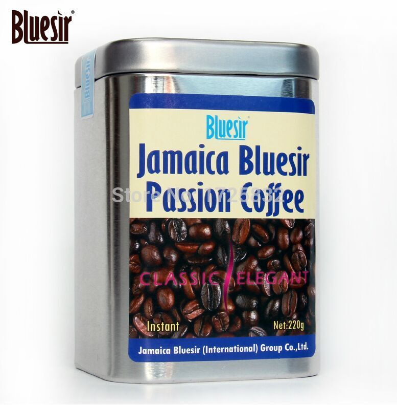 New Arrival Coffee Bluesir blue mountain coffee original three in coffee instant coffee powder canned 220g