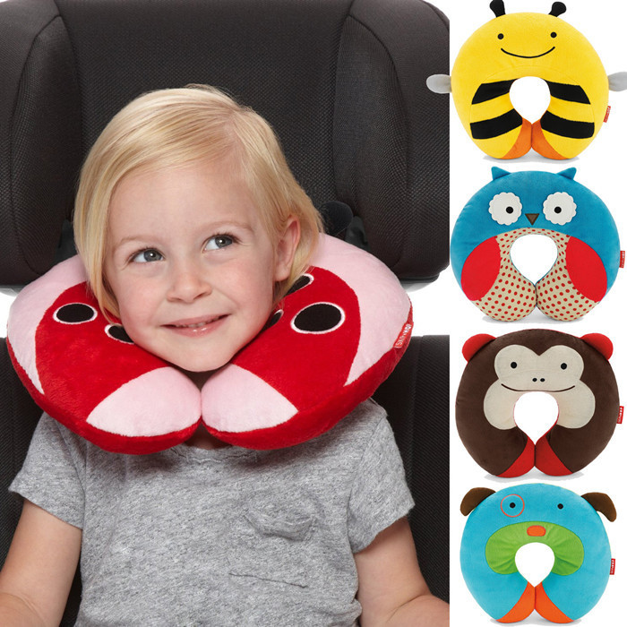 2015 Kawaii Baby Pillow Multi-Animals Design Plush Super Soft Kids Headrest Kids Pillow Neck Protector Travel Toys for 0-4 Years(China (Mainland))