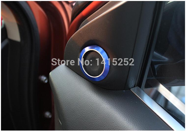 2015 NEW hot sale Mitsubishi ASX car interior accessories aluminium alloy horn decoration circle / sound protection stickers(China (Mainland))