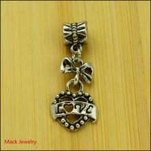 30pcs Fashion Big Hole Loose Beads love European Pendant Beads Fits Pandora Charms Bracelets & pendants diy Jewelry CQ154