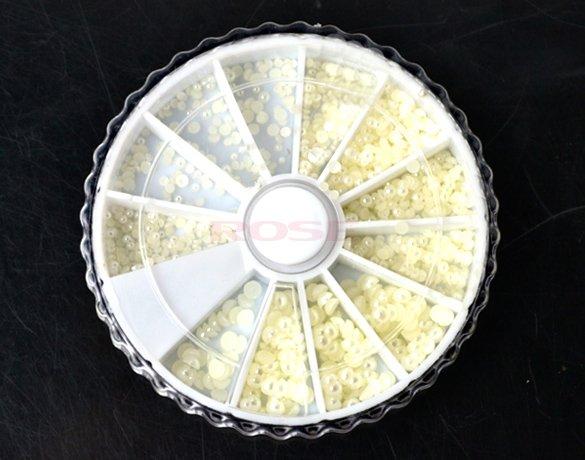 Hot New Fashion DIY Nail Art Pearl Decoration Wheel Nail Care Rhinestone(China (Mainland))