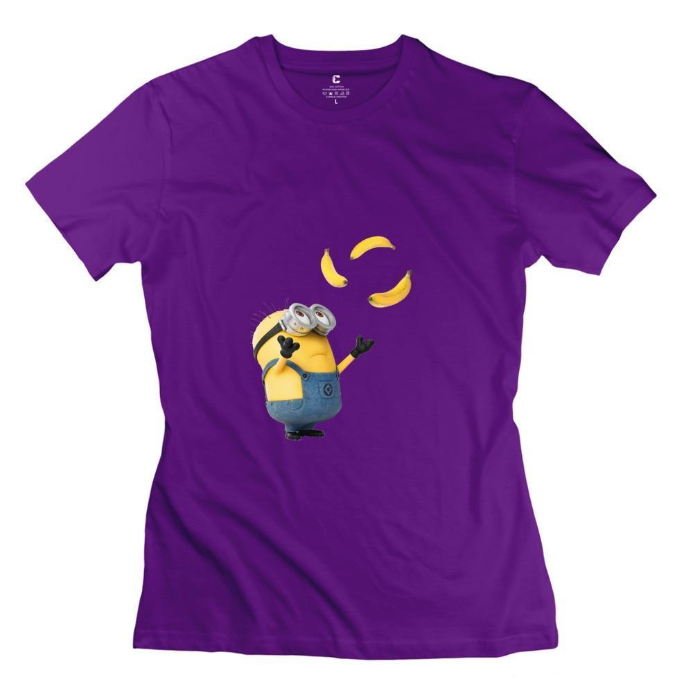 Brand Minions Banana Girls t shirt Popular Organic Cotton Woman t-shirts(China (Mainland))