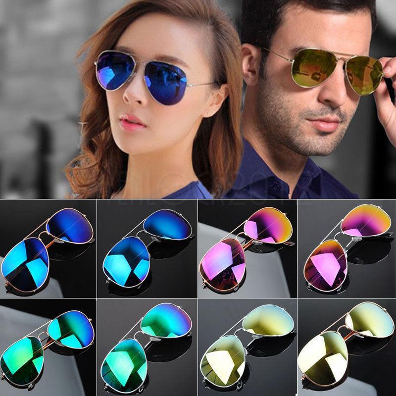 Солнцезащитные очки авиаторы зеркальные