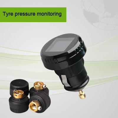 high quality tire valve cap monitor system TPMS LCD car pressure sensor with 4pcs external sensor(China (Mainland))