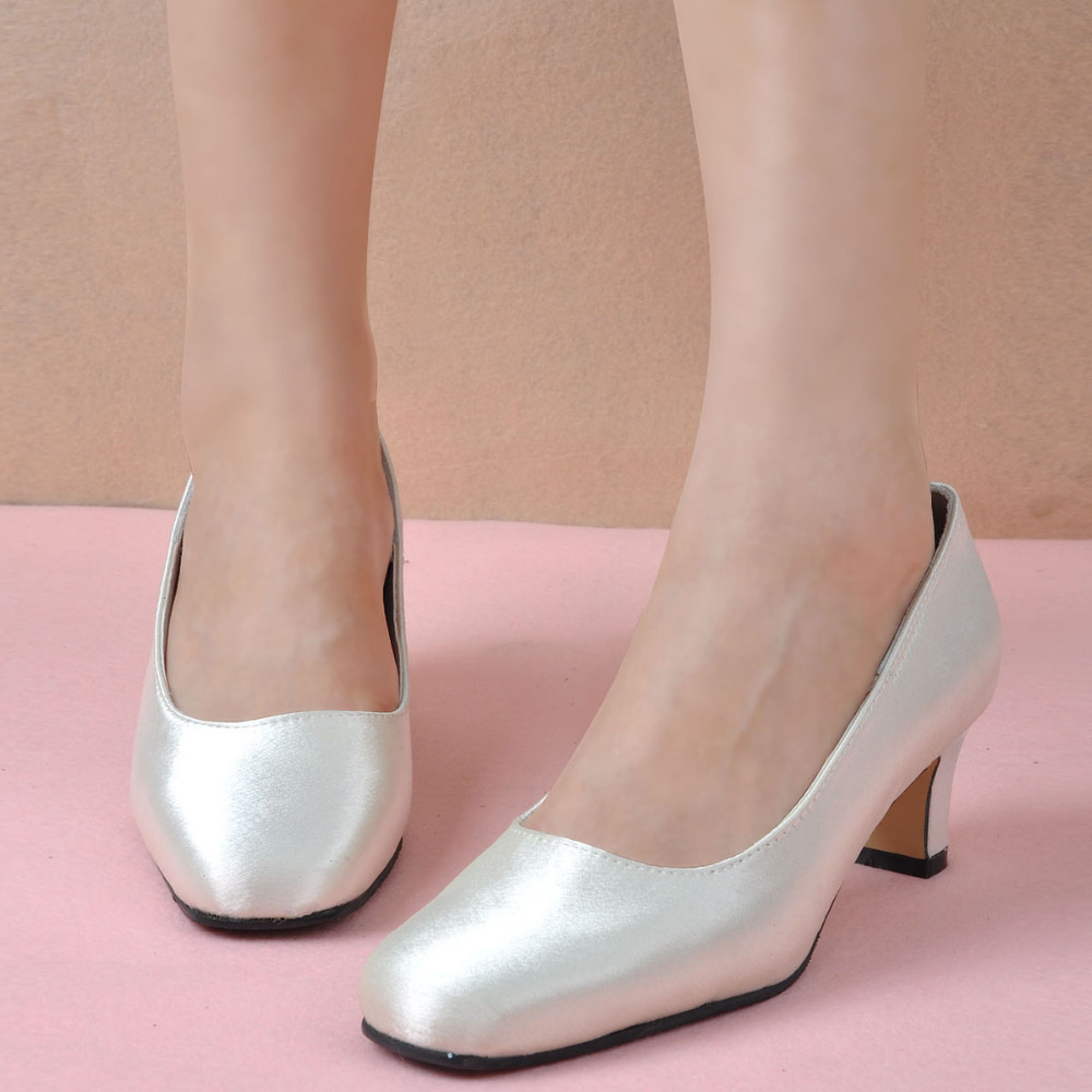 Wedding Shoes Chunky Heel