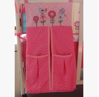 wholesale and retail baby's cotton diaper stacker multifunctional storage bag Pink Owl Animal 0042 for girls(China (Mainland))