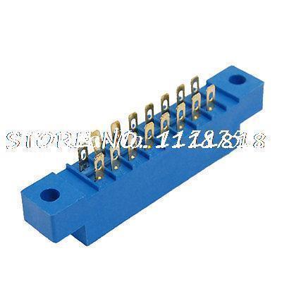 5Pcs 16P 3.96mm Pitch Card Edge Connectors PCB Slot Socket(China (Mainland))
