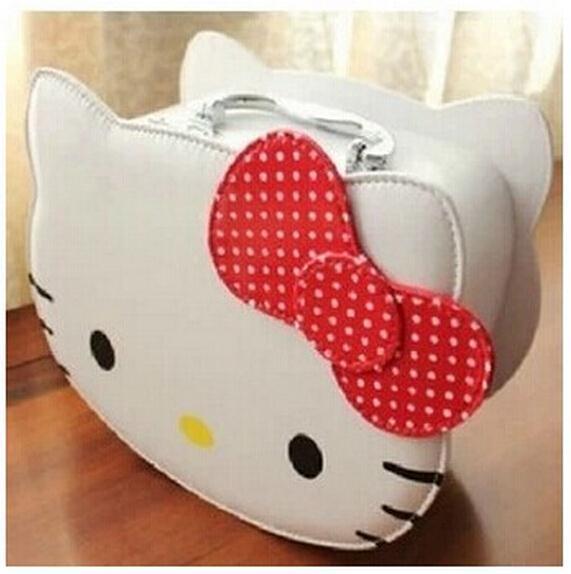 Kawaii Delicate Hello Kitty Fashion Girls Lady's BIG Volume Handbag Cosmetics Bag & Case Pouch PU Makeup Beauty Storage BAG BOX(China (Mainland))