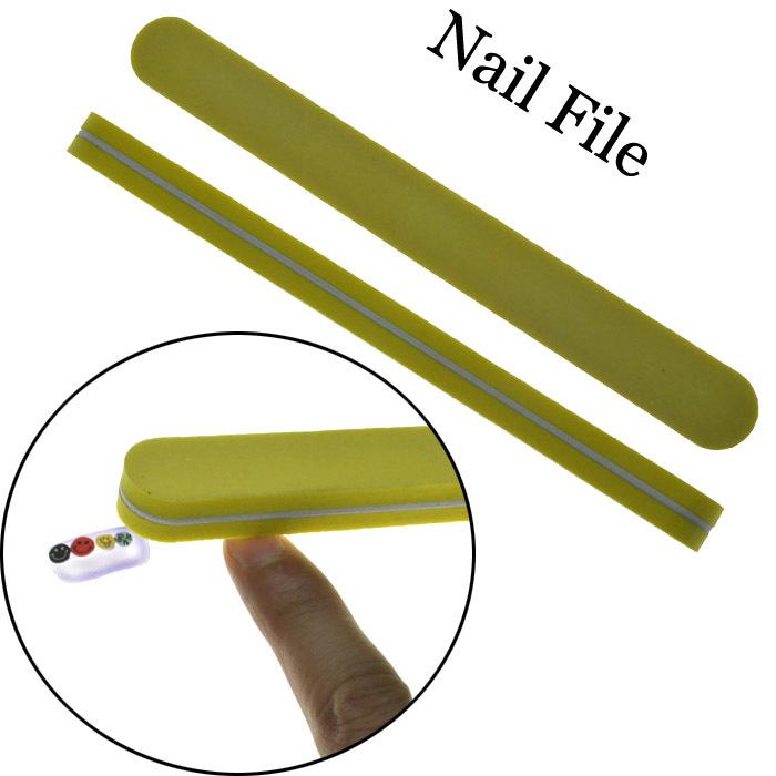 Free Shipping 2015 Girls Women Finger Decorate Finger nail Article Nail File Tool ,Random Color Buffer Buffing Slim Sandpaper(China (Mainland))