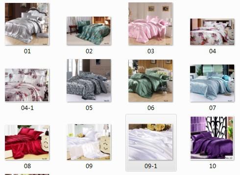 7 pcs cetim de seda califórnia rei conjunto de cama queen size colcha capa de edredão equipado folha plana cama em um saco colchas de linho 10 conjuntos(China (Mainland))