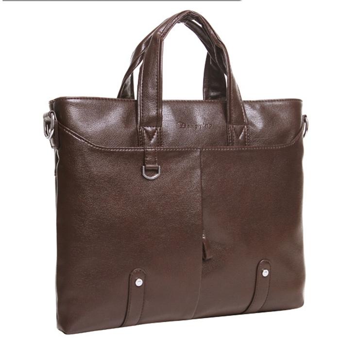 High quality genuine leather men brifcases messenger shoulder bag men commercial brifcase laptop bag(China (Mainland))