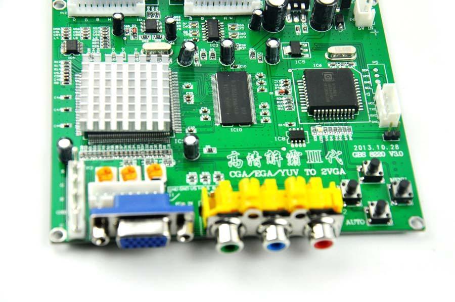 RGB / CGA/ EGA/ YUV to VGA Arcade HD Video Converter Board(China (Mainland))