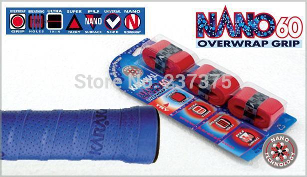 Pack of 3 New Karakal KA6045 NANO-TECH Grip Non Slip Overwrap Grips Ajr Holes for a Cool grip Super Tacky grip tape(China (Mainland))