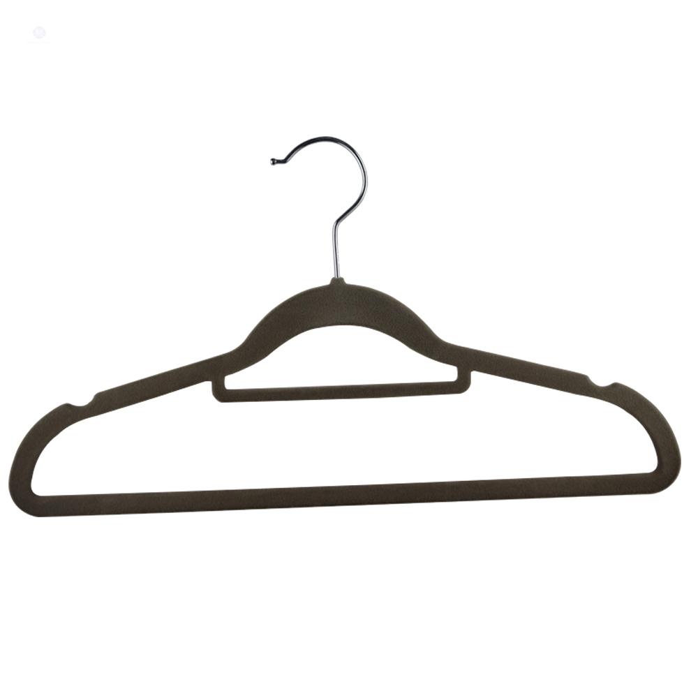 Best selling 41.5*23*0.5cm 100 pcs a lot non slip shoulder velvet hanger(China (Mainland))