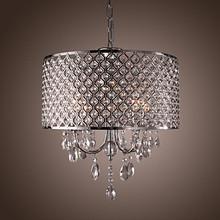 LED Modern Crystal Pendant light Lamp with 4 Lights For Dining Room Luminaire Lustre De Cristal