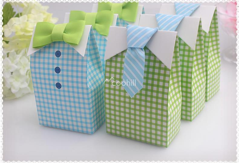 20pcs My Little Man Blue Green Bow Tie Birthday Boy Baby Shower Favor Candy Treat Bag Wedding Favors Candy Box gift Bags(China (Mainland))
