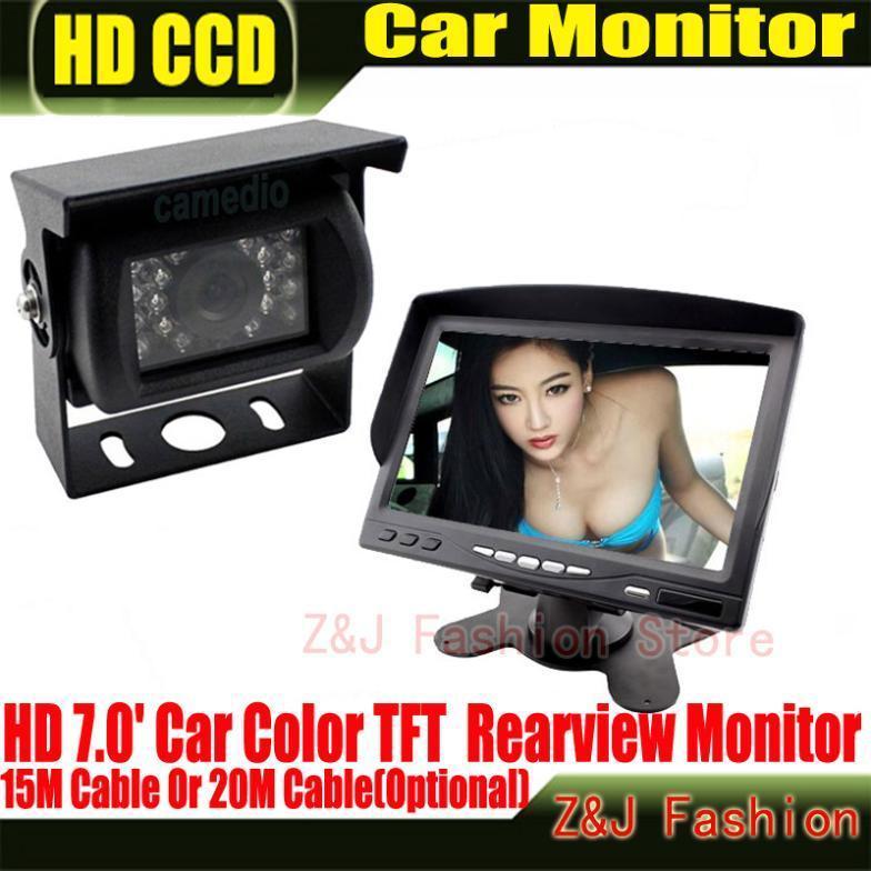 """Hot Selling 18 IR Reverse Camera +NEW 7"""" LCD Monitor+Car Rear View Kit car camera BUS And Truck parking sensor Free Shipping(China (Mainland))"""