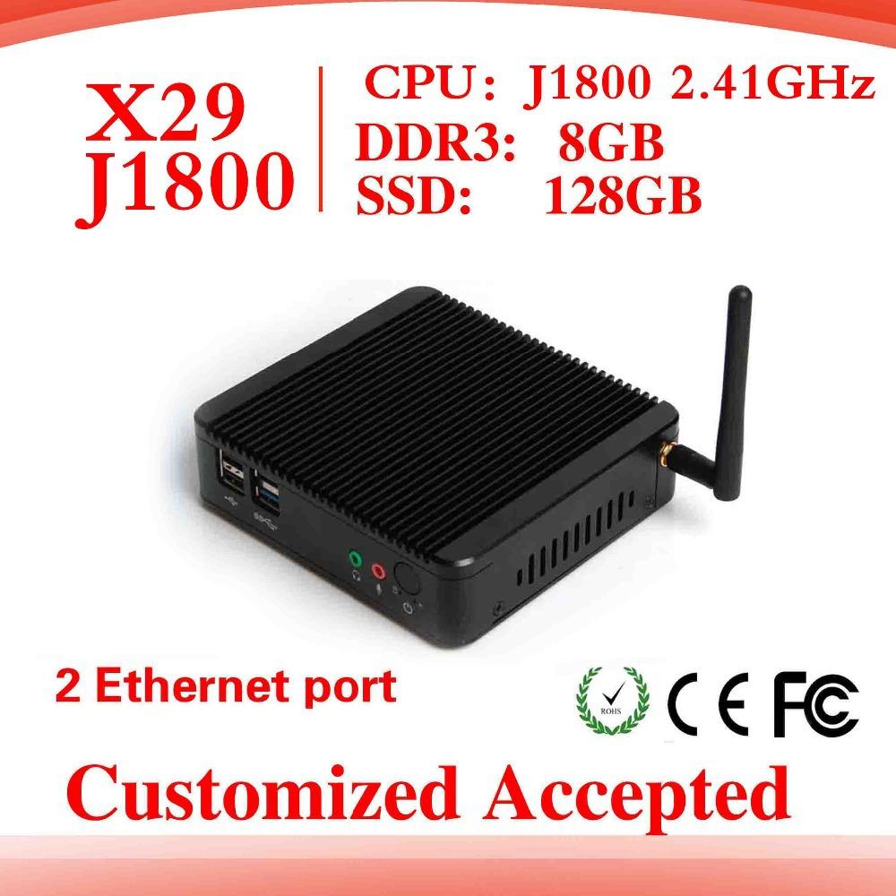 factory desktop computer host Desk-top pc J1800 dual core thin client pc station support Linux OS Ubuntu mini pc thin client(China (Mainland))