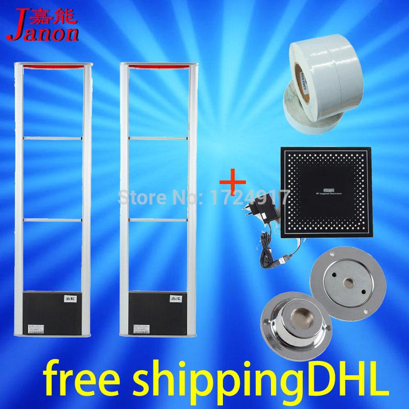 Promotion anti-theft electronic antennaX2+1000piece4x4 EAS soft label+RF8.2Mhz detacherX1+1deactivate Free shipping DHL(China (Mainland))
