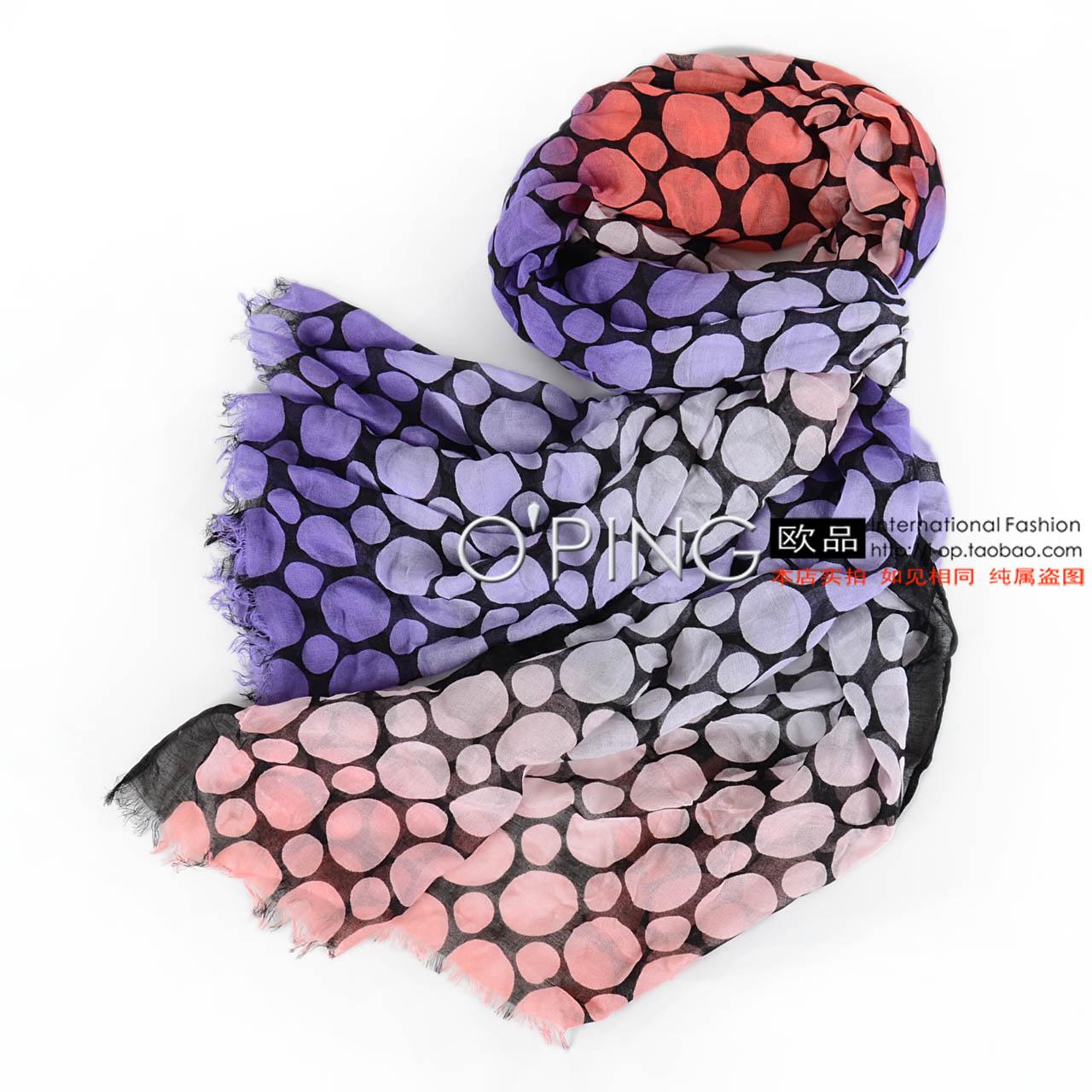 Nosso pequeno dots hit impressão a cores flash fiado rayon lenços 2D11(China (Mainland))