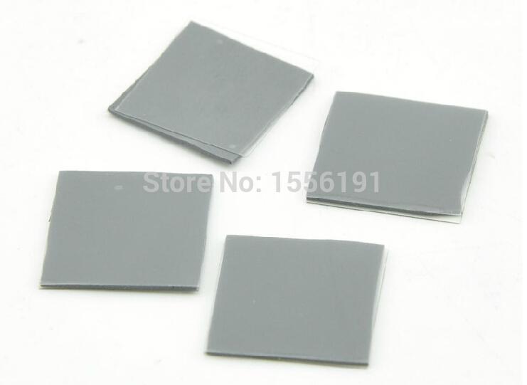 Free shipping CPU Heatsink 10pcs 30*30*0.5mm Thermal pad Solid state silicon grease North and south bridge Memory silicon sheet(China (Mainland))