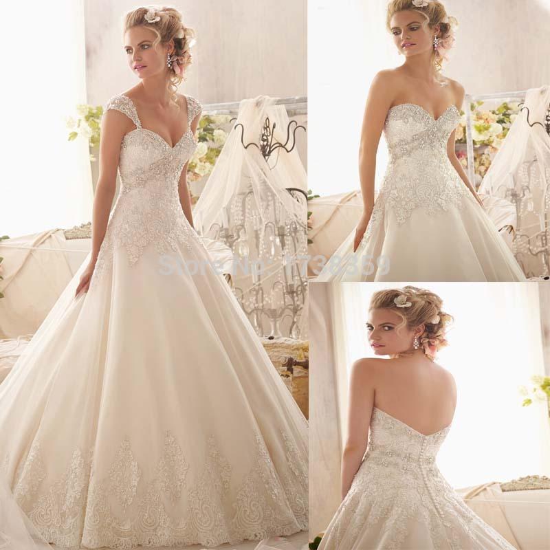 Vestidos De Noiva Casamento Princesa elegante vestido De Casamento uma linha querida alça De ombro removível 2015 nupcial Vestidos De Casamento(China (Mainland))