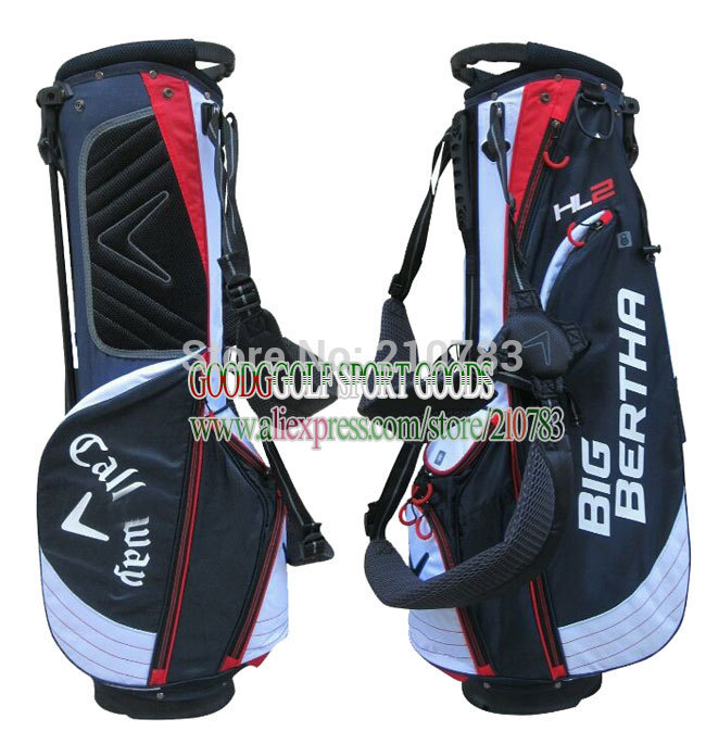 Free shipping Cal-away Golf bag high quality PU golf stand Bag 9.5Inch With Black/aBlue in choice golf clubs bag with headcover(China (Mainland))