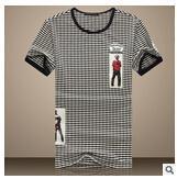 2015 fashion fitness sport t-shirt men camistas striped men t shirt for men short sleeve o-neck short casual-men tops plus size(China (Mainland))