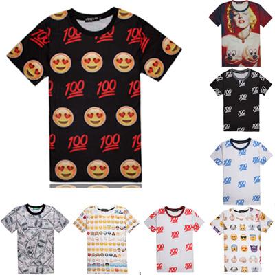Мужская футболка T shirts Emoji 2015 bape Camisetas men shirt