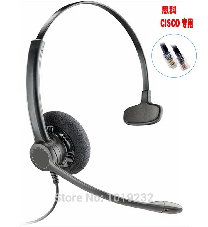 Office Headset with RJ9/RJ11 plug Headphone for Cisco IP Telephone 7965 7940 7970 7971 8961 8965 6911 6912 6921 6965 M11 M12(China (Mainland))