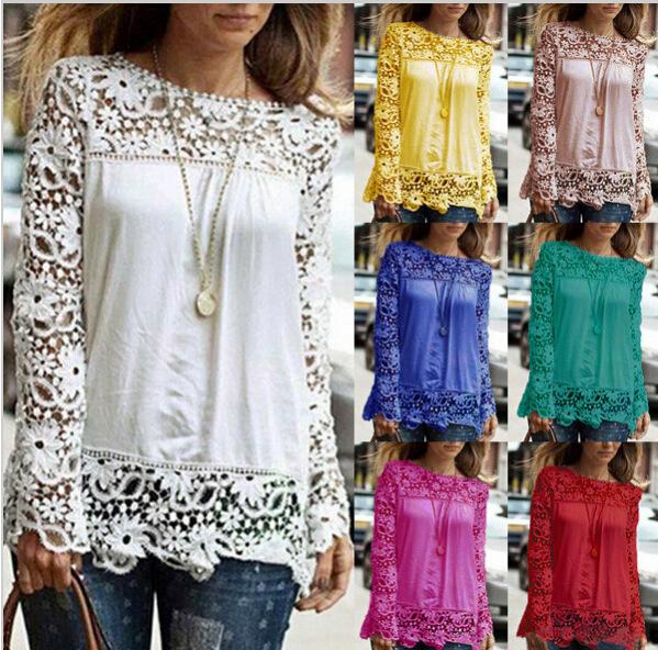 Женские блузки и Рубашки Brand new 9 s/5xl 2015 Chiffion Blusas Femininas Chiffon lace blouse женские блузки и рубашки summer blouse blusas femininas 2015 roupas s
