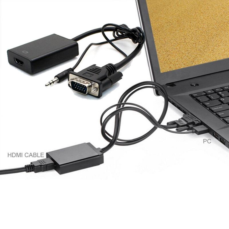 Feitong VGA To HDMI Output 1080P HD+Audio TV AV HDTV Video Cable Converter Adapter Free Shipping&Wholesales(China (Mainland))