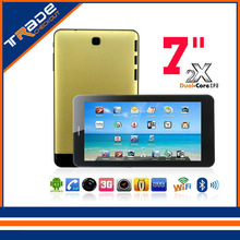 High quality 7 Inch Dual Core ARM Cortex A7 1.0GHZ CPU Mali-400 MP GPU  Android 4.2 Tablet PC with Wifi Function Yellow