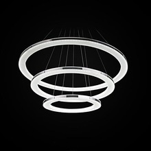 Acrylic Three Rings Modern LED Pendant Light Lamp For Living Room Lustres E Pendentes De Sala