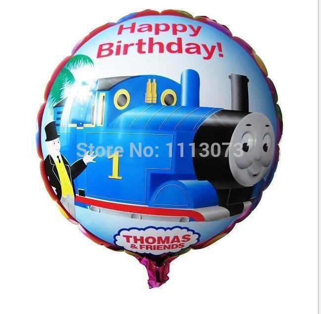 10pcs/lot cartoon train aluminum balloon, Thomas balloons, foil ballon, high quality Birthday party balloons bola bolas de festa(China (Mainland))