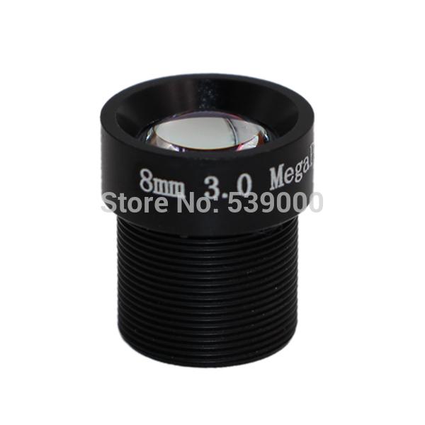 M12 mount Mega Pixel HD camera lens 3MP 8mm fix camera lens security cctv lens IP camera HD lens 1/2.7 F2.0(China (Mainland))