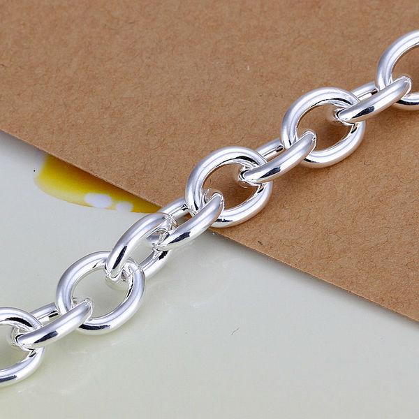 925 чистое серебро браслет / браслет ювелирные изделия модный женщины двойной в форме сердца браслеты LKH279