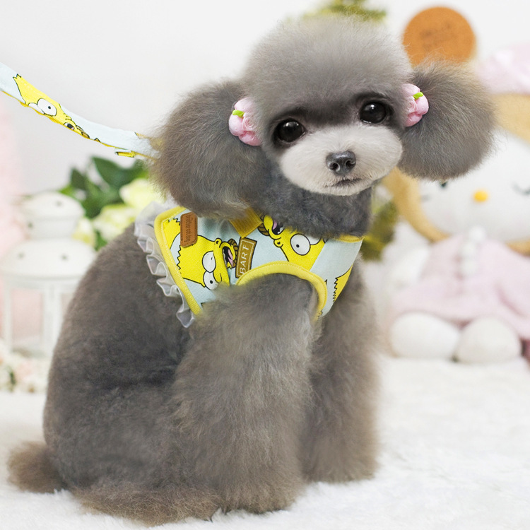 Dog Harness 2015 New Good quality Adjustable Size S,M,L,XL Pet Harness Dog Cat Harness and Leash Set(China (Mainland))