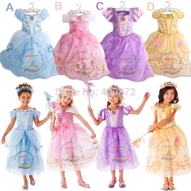 Fashion summer girl dress baby girl Cinderella princess Cosplay Costume, Fancy brand baby costume dress children party dress(China (Mainland))