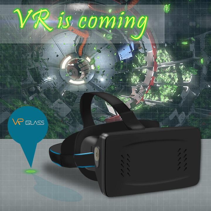 "2015 GEEK love it Virtual reality Oculus rift 3D glasses 3.5-6"" smart phone Head Mount Plastic Google cardboard drop shipping(China (Mainland))"