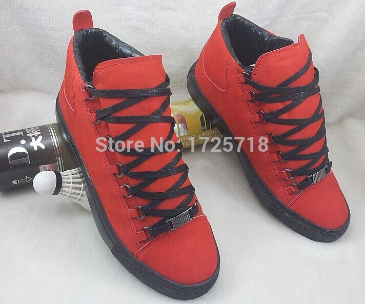 2015 Free Shipping arena men's leather sneakers luxury shoes kayne west trainers Brand Mens Sneakers Men Brand Fashion Shoes47(China (Mainland))