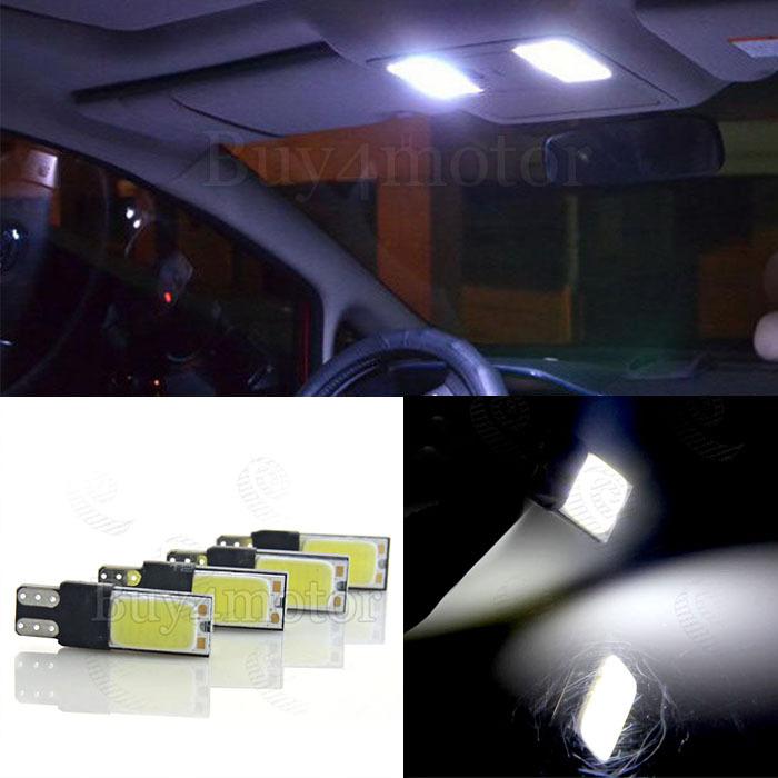 4pcs high power t10 w5w led cob car led t10 5w5 12v t 10 bulb auto light fog Lamp interior lamp w5w t10 No canbus error(China (Mainland))