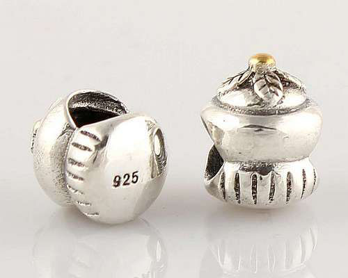 L017 Free shipping Guaranteed 100 925 sterling silver loose threaded beads DIY fits pandora brecalet necklace