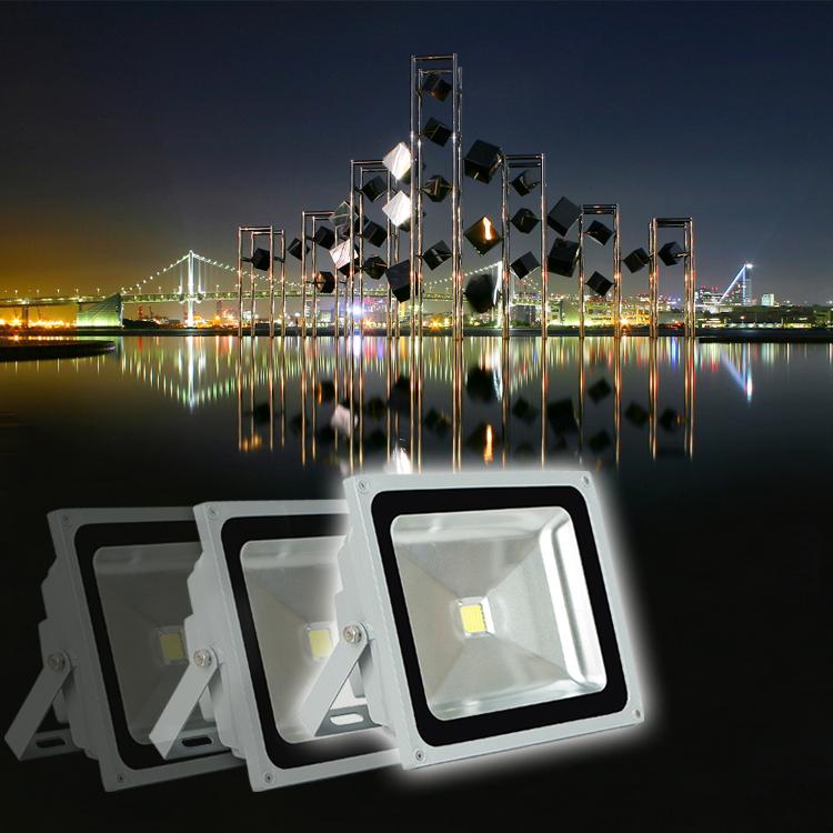 FREE DHL 100Pcs/Lot CREE 10W 20W 30W 50W 70W 100W 150W 200W High Power 85V-265V Led Flood Llight Outdoor Lamp /WW /W/RGB(China (Mainland))