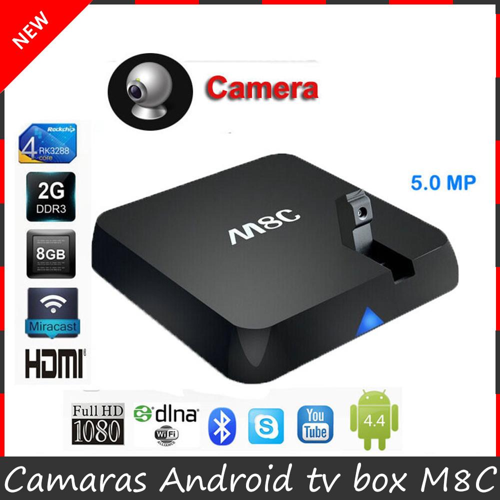 New M8C Android TV Box Amlogic S802 Quad core 2GB 8GB Android 4.4.2 Kitkat XBMC S802 M8C camaras smart tv box 4K Player mini pc(China (Mainland))
