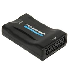 Мини мхл / HDMI к SCART видео конвертер для снятия зубного камня ( ес Plug ) ( черный )